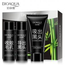 Набор для удаления черных точек с бамбуковым углем Bioaqua