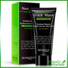 Маска для лица от черных точек с углем Bioaqua