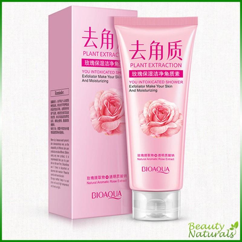 Нежная пилинг-скатка для лица с розовым экстрактом Bioaqua