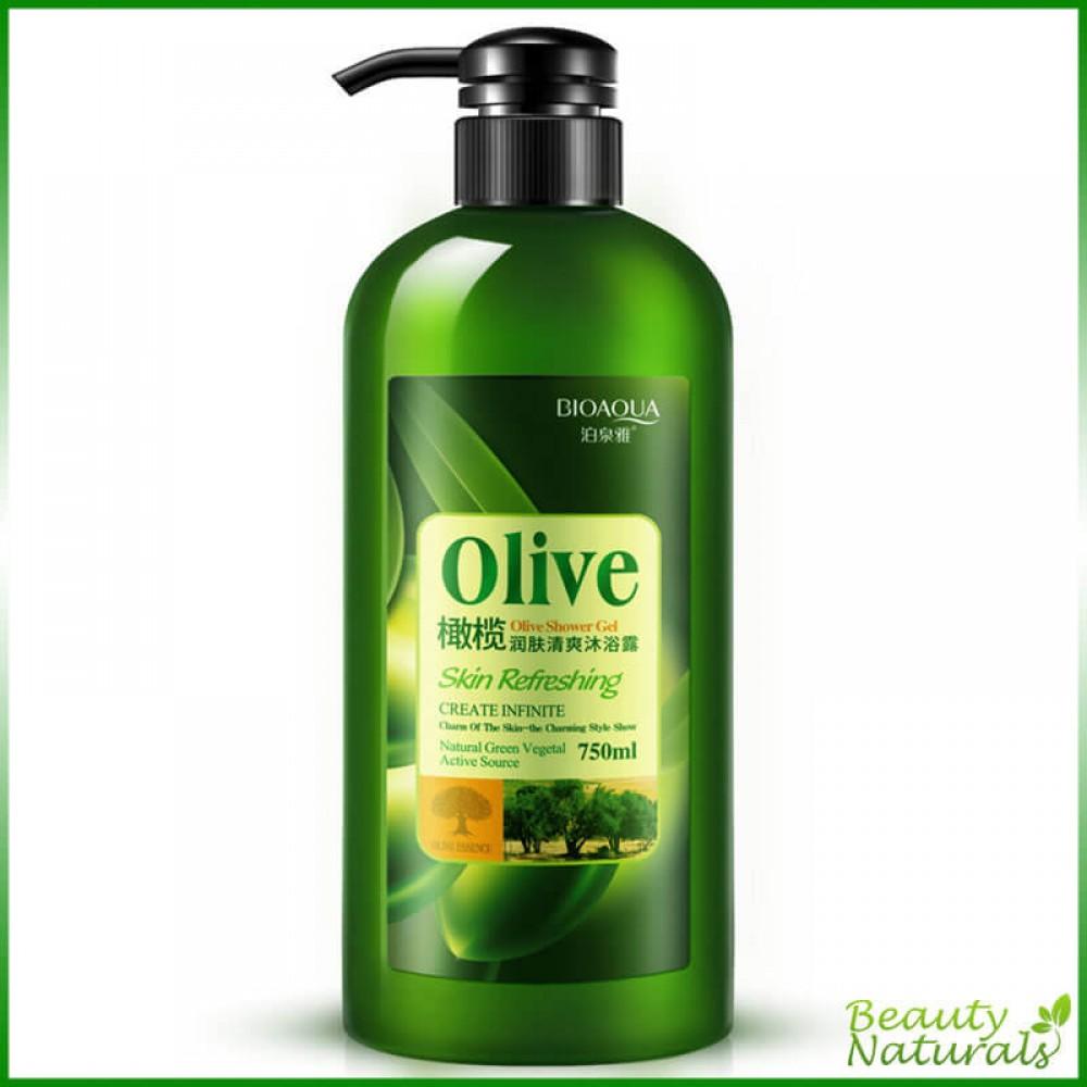 Гель для душа с оливковым маслом Olive Bioaqua 750 мл