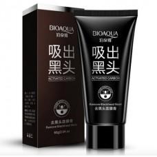 Черная маска с активированным углем Bioaqua от черных точек и прыщей