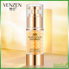 Питательная эссенция для кожи вокруг глаз с золотом 24к и черной икрой Venzen